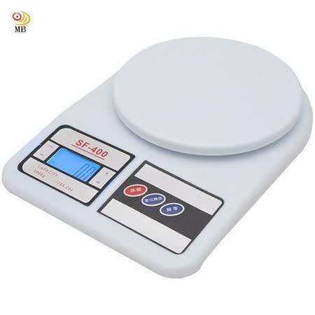 【兌】月陽3kg家用4單位多功能精密液晶藍光版圓型電子秤料理秤(SF400B)