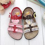 【童鞋城堡】精典泰迪英國風格紋勃肯涼鞋TD3422