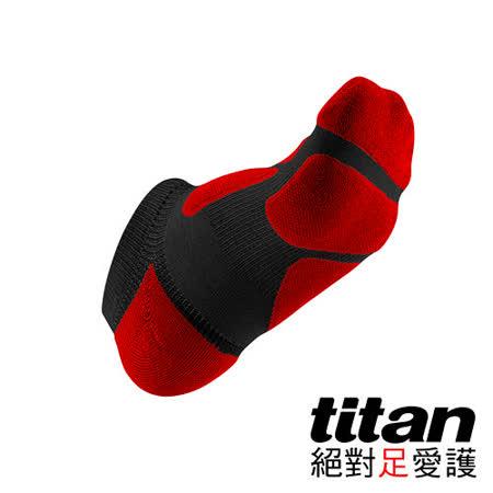 Titan功能慢跑裸襪-[黑/紅]