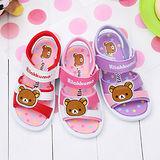 【童鞋城堡】拉拉熊懶懶熊普普點點風女童涼鞋KM3927