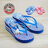 HELLO KITTY 海軍風船錨楔型鬆糕拖鞋 三麗鷗授權正版商品-紅色/藍色