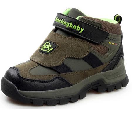 【Hostingbaby小寶當家】X2262軍綠色童鞋男童棉鞋2013新款冬季兒童棉鞋保暖加絨戶外雪地鞋子