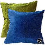 《M.B.H─晶鑽絲絨》精緻抱枕(藍綠)(2入)