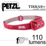 【法國Petzl】TIKKA+ 頭燈(110流明)/ACTIVE 多功能進階款_苺紅 E97HR