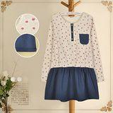 【MIDORI╭。綠】可愛小清新印花棉麻公主洋裝(FD00038)