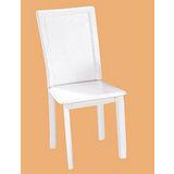 Edwin鱷魚紋皮質餐椅497-14(白)