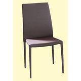 Calvin灰布餐椅498-4(棕)
