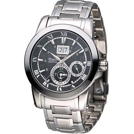精工 SEIKO Premier 人動電能 尊爵格調腕錶 7D56-0AB0D SNP093J1