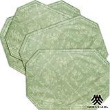 《M.B.H─水果花園》PVC防潑水餐墊(綠)(4入)
