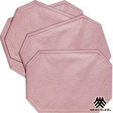 《M.B.H─莫利米勒》PVC防潑水餐墊(粉紅)(4入)