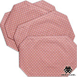 《M.B.H─坎蒂糖果》PVC防潑水餐墊(粉紅)(4入)