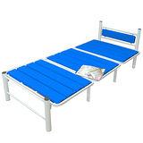 【KOTAS】時尚鋼管組合床(單人)-繽紛藍