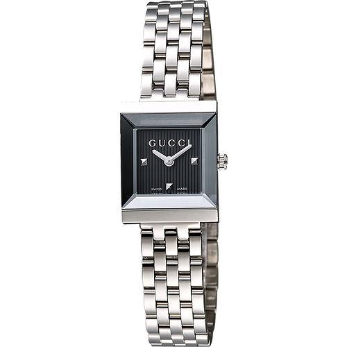 GUCCI G-Frame 系列中錶徑女仕腕錶-灰 YA128403