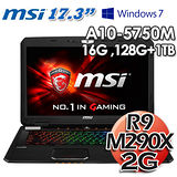 msi微星 GX70 17.3吋 AMD四核 R9 M290X 2G獨顯 Win7專業電競筆電