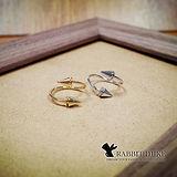 【Rabbit Duke】經典歐美風格 個性流線平行設計三角錐造型戒指