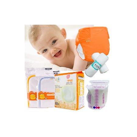 【COTEX可透舒】最愛寶寶超值組--布尿布綜合組+哺乳3件組