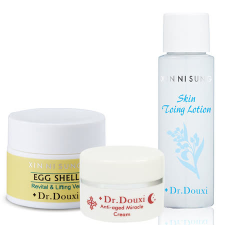 Dr.Douxi朵璽 蛋殼肌體驗組(卵殼膜20g+健康水30ml+熬夜霜10g)