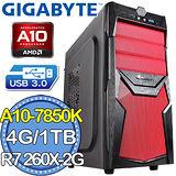 技嘉A88平台【紅蓮劍風】AMD A10四核 R726XOC-2G DDR5獨顯 1TB燒錄電腦