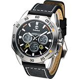 天柏嵐 Timberland THORNDIKE 雙顯多功能腕錶 TBL.14115JS/02