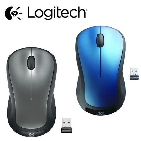 Logitech羅技 M310t 無線光學滑鼠 (銀/藍)