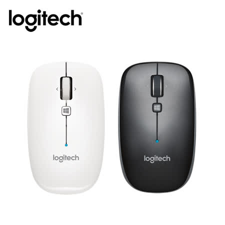 Logitech羅技 M557 藍牙滑鼠 (珍珠白/鐵灰黑)