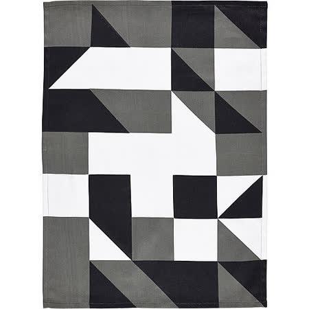 《ZONE》色塊餐廚布巾(黑)