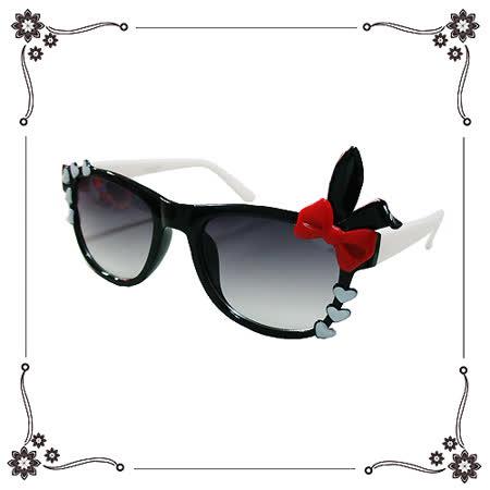 【Chimon Ritz】甜心兔兔兒童太陽眼鏡/墨鏡-黑