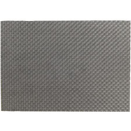《ZONE》雙色織紋餐墊(銀黑)
