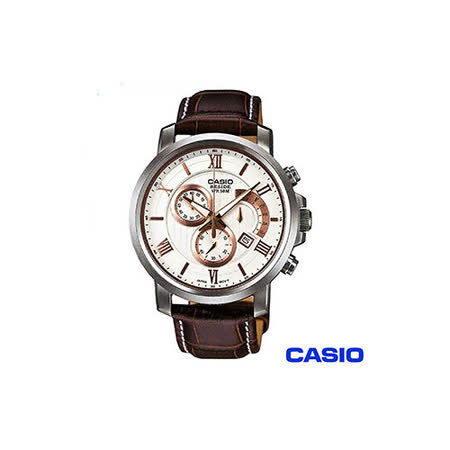 【CASIO卡西歐】白面復古優雅紳士錶 BEM-507L-7A