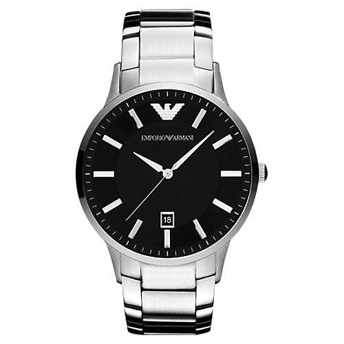 ARMANI Sportivo 時尚腕錶-黑/銀 AR2457