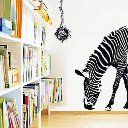 時尚壁貼 - 黑白斑馬