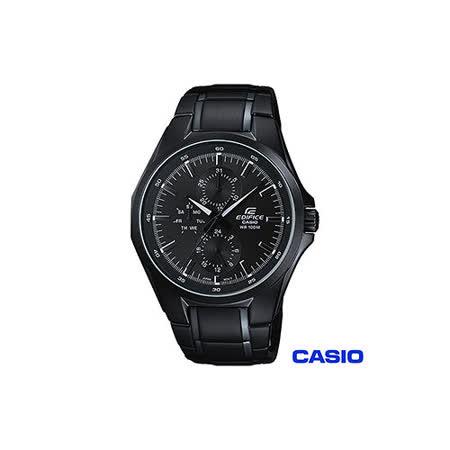 【CASIO卡西歐】EDIFICE系列前衛時尚三眼男錶 EF-339BK-1A1