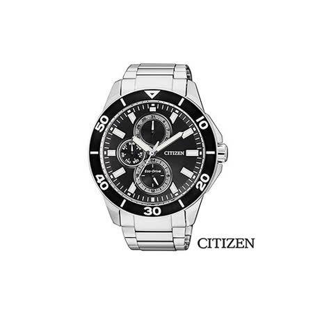 【CITIZEN 星辰】Eco-Drive Sporty 光動能簡約三眼時尚腕錶 AP4030-57E
