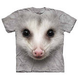 『摩達客』(預購)美國進口【The Mountain】自然純棉系列 負鼠臉 T恤