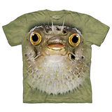 『摩達客』(預購)美國進口【The Mountain】自然純棉系列 河豚臉 T恤