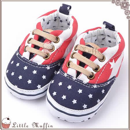 美國旗星條帥氣小球鞋 止滑軟底學步鞋 [SMI297]