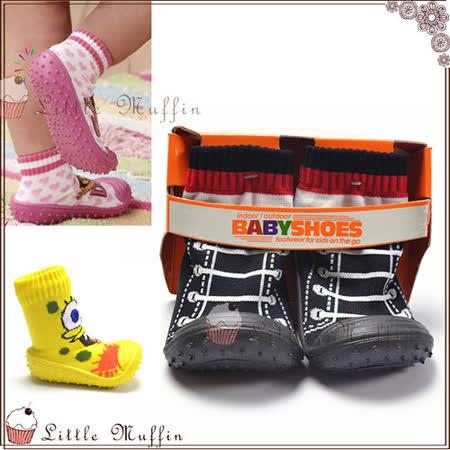 小球鞋棉質卡通圖案環保橡膠底止滑軟底學步鞋 歐美新款 SMI241