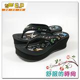 【G.P】時尚精美水鑽高台女鞋~G8182W-10(黑色)共三色