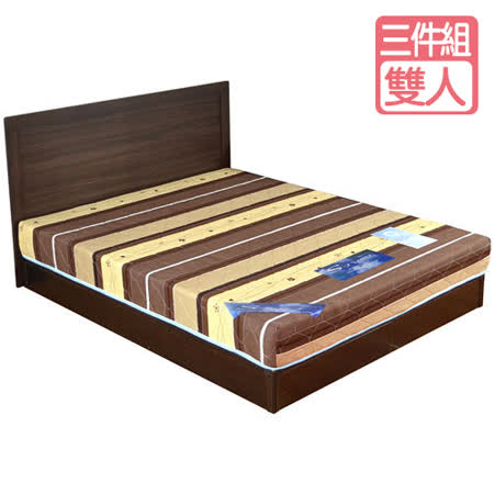 HAPPYHOME 克洛伊5尺床片型3件房間組可選色U4-GA4-3(床頭片-床墊-床底)
