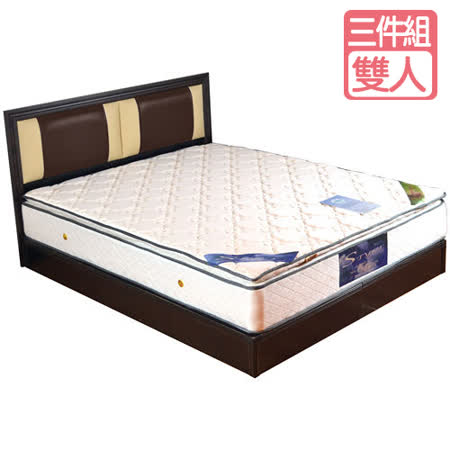 HAPPYHOME 尤妮絲5尺床片型3件房間組可選色U4-GA4-7(床頭片-床墊-床底)