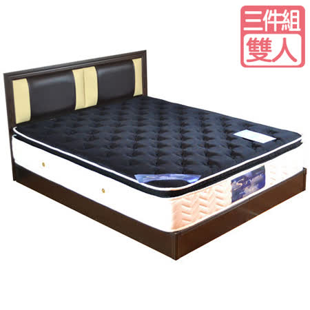 HAPPYHOME 喬安娜5尺床片型3件房間組可選色U4-GA4-8(床頭片-床墊-床底)