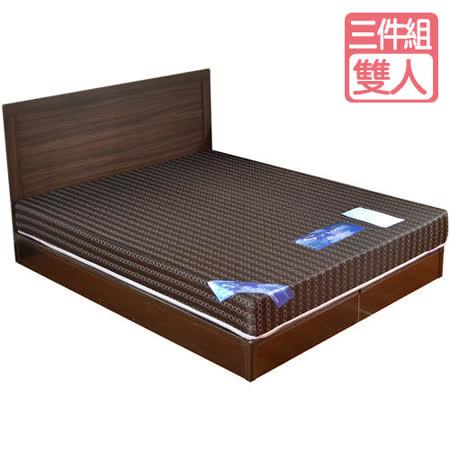 HAPPYHOME 費歐娜5尺床片型房間組可選色U4-GA4-13(床頭片-床墊-床底)
