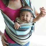 橘子無環背巾禮盒組-炫彩水藍(內含背巾+髮帶+抱枕)