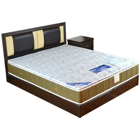 HAPPYHOME 路易絲5尺床片型4件房間組可選色U4-GA4-30(床頭片-床頭櫃-床墊-床底)