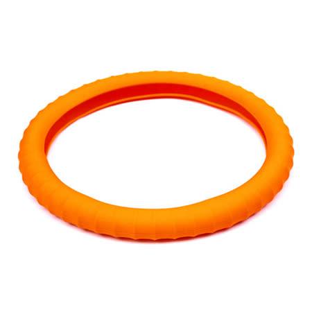 3D 矽膠方向盤套 - 橘
