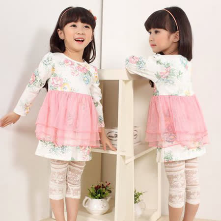 【春夏新款】蕾絲鏤空款((白色)) 甜美內搭褲 中褲 七分褲