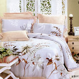 《KOSNEY 魅力花語 》雙人100%天絲TENCEL八件式兩用被床罩組
