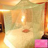 SHINEE 100%台灣製 高密度單人3.5尺內格蚊帳- 亮粉色星花(買就送棉質綁繩x4)