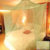 SHINEE 100%台灣製 高密度單人3.5尺內格蚊帳- 黃色星花(買就送棉質綁繩x4)