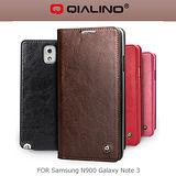 QIALINO 洽利 SAMSUNG NOTE 3 N900 經典系列真皮皮套